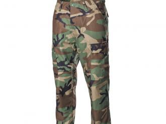 Oblečení-US bojové kalhoty BDU, woodland, s dvojitými koleny, zadnici