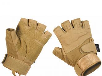 """Rukavice-Taktické rukavice, """"Protect"""", bez prsté,kojot tan"""